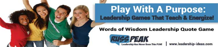 Student Leadership Game Words of Wisdom Pic