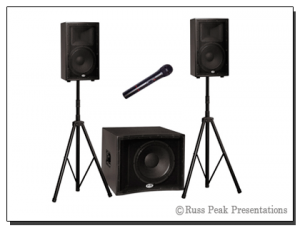A Sound System w/ WIRELESS Microphone